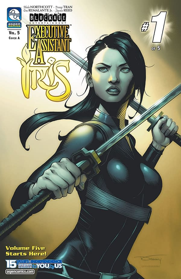 Executive Assistant Iris Vol. 5 #1 cover by Donny Tran and Luis Guerrero
