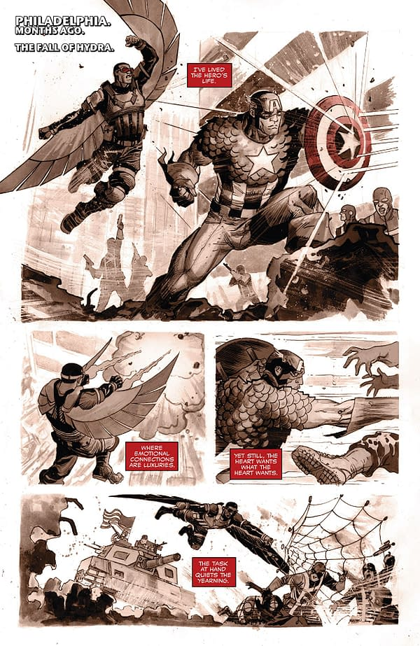 Falcon #8 art by Joshua Cassara and Rachelle Rosenberg