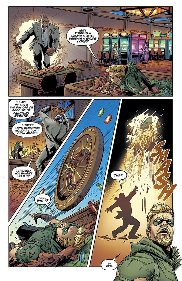 Green Arrow Annual #2 art by Carmen Carnero and Trish Mulvihill
