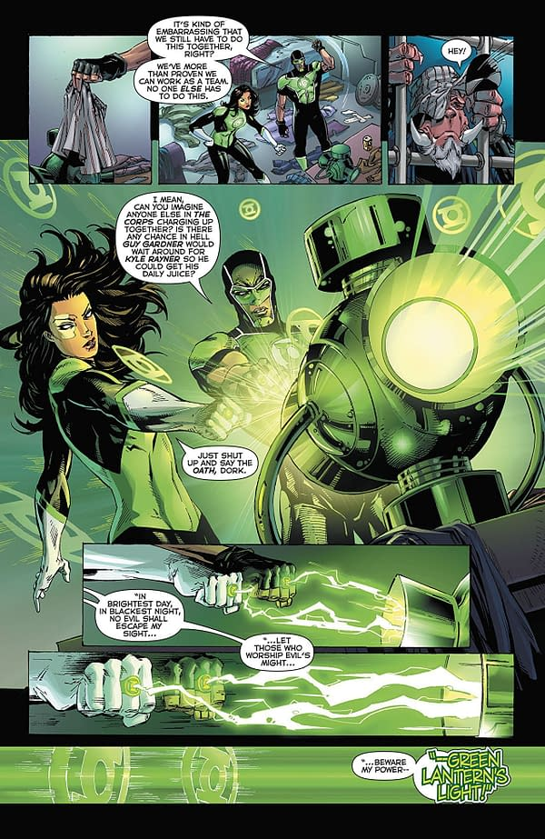 Green Lanterns #47 art by V. Ken Marion, Sandu Florea, and Dinei Ribeiro