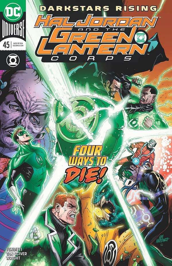 Hal Jordan and the Green Lantern Corps #45 cover by Doug Mahnke, Jaime Mendoza, and Wil Quintana