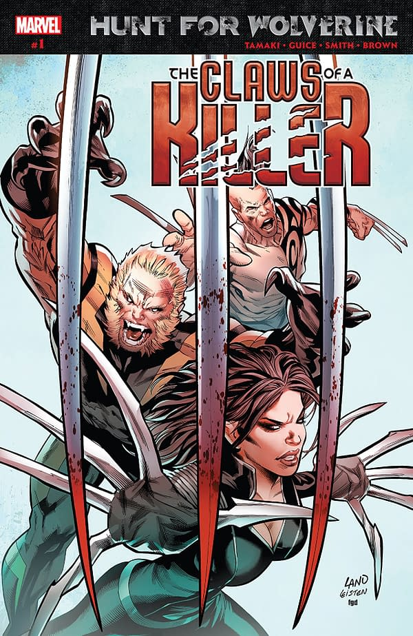 Hunt for Wolverine: Claws of a Killer #1 cover by Greg Land, Jay Leisten, and Frank D'Armata