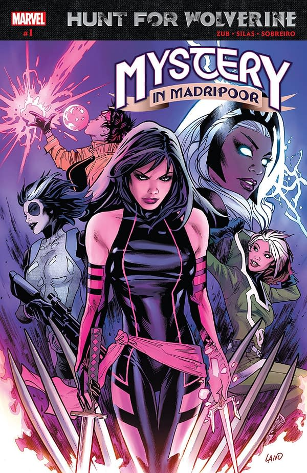 Hunt for Wolverine: Mystery in Madripoor #1 cover by Greg Land