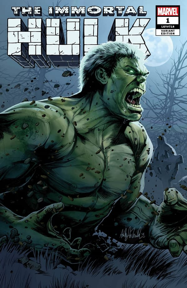 Immortal Hulk #1 Retailer Variants from Golden Apple and AOD Collectables