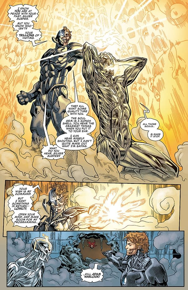 Infinity Countdown #3 art by Mike Hawthorne, Terry Pallot, and Jordie Bellaire