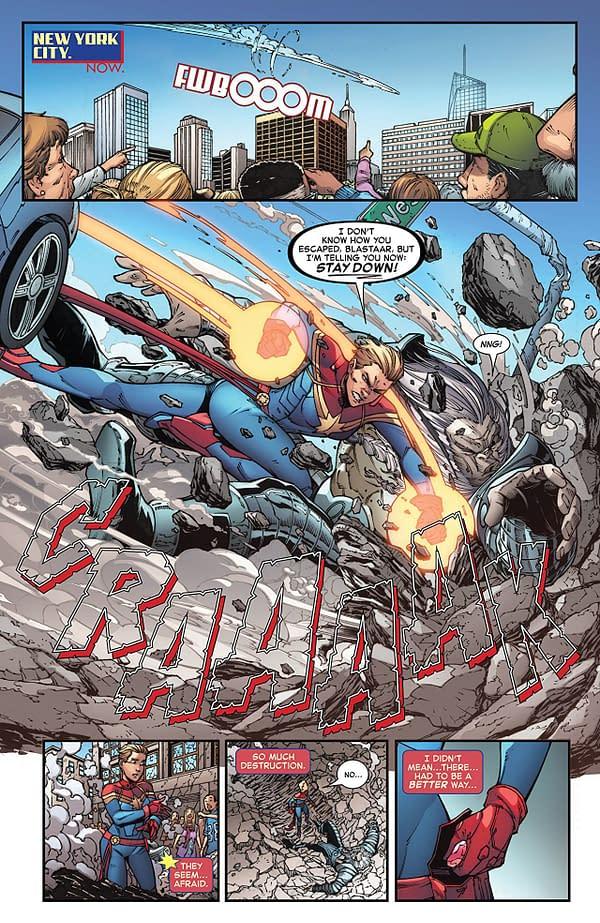 Infinity Countdown: Captain Marvel #1 art by Diego Olortegui and Erick Arciniega