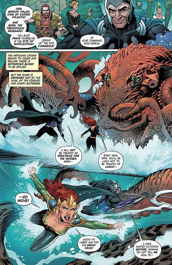 Mera: Queen of Atlantis #4 art by Lan Medina, Norm Rapmund, and Veronica Gandini