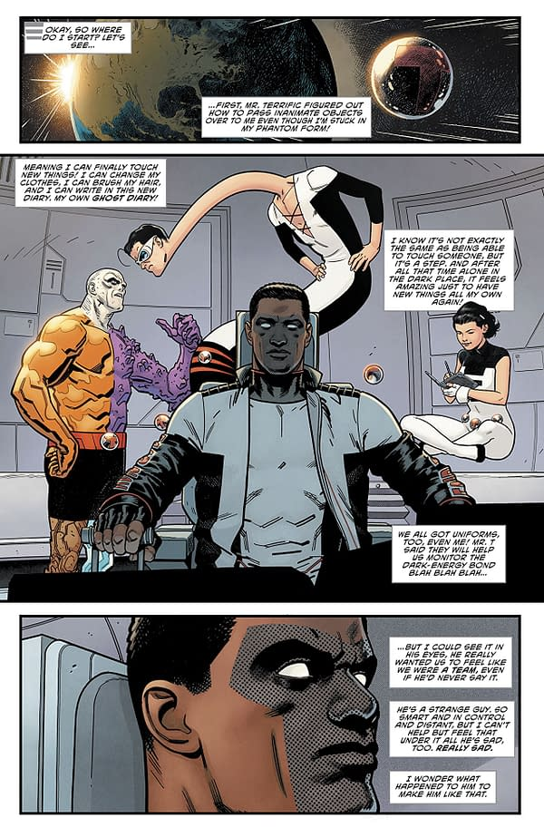 Terrifics #4 art by Doc Shaner and Nathan Fairbairn
