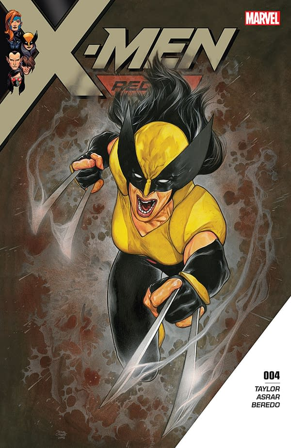 X-Men: Red #4 cover by Travis Charest