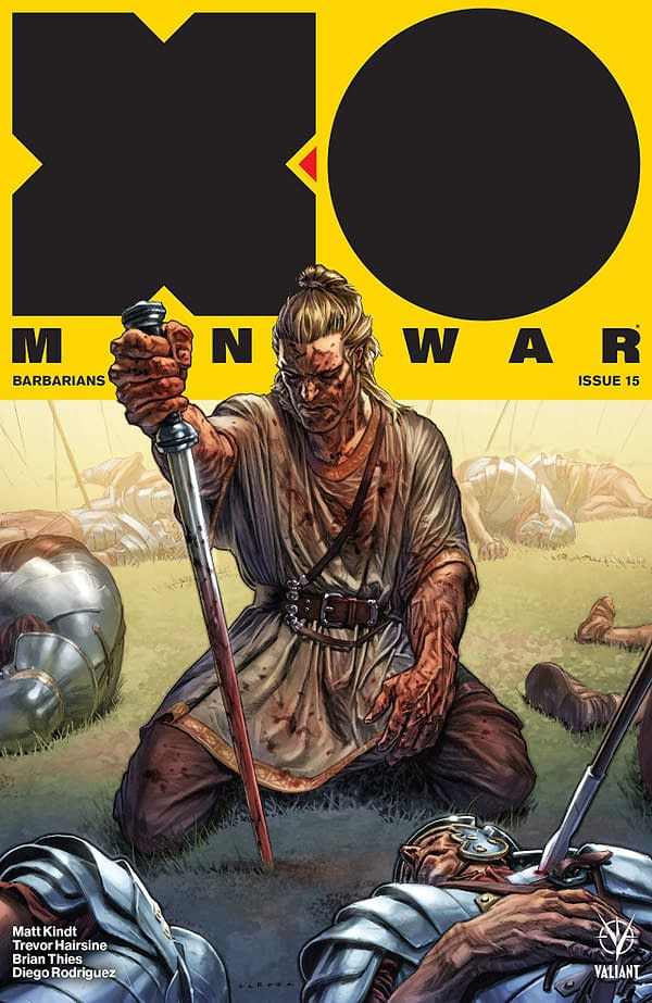 X-O Manowar #15 cover by Lewis Larosa and Diego Rodriguez