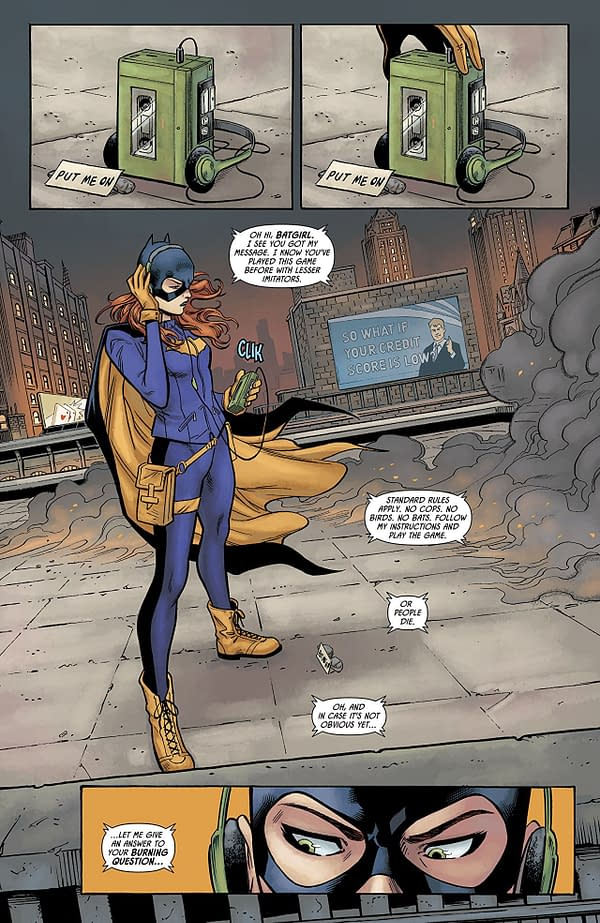 Batgirl vs. the Riddler #1 art by Minkyu Jung, Jose Marzan Jr., and Jordie Bellaire