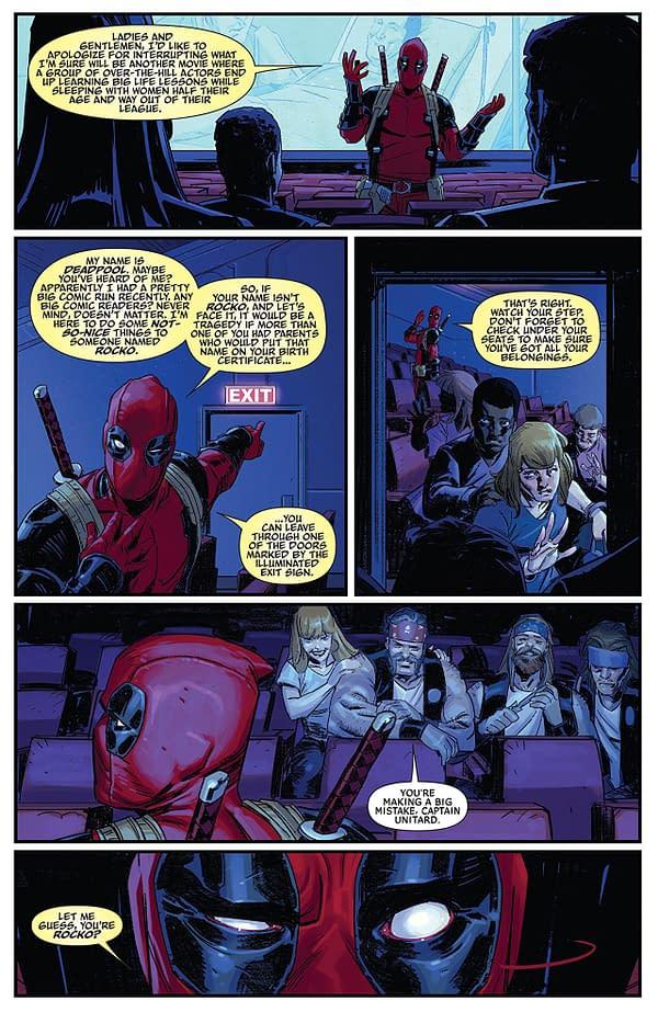 Deadpool #1 art by Nic Klein