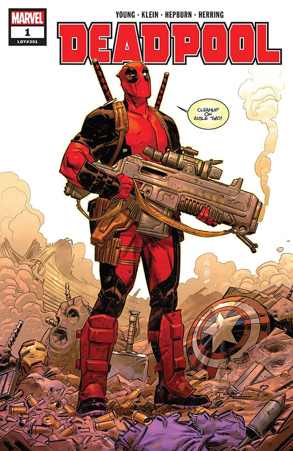 Deadpool #1 cover by Nic Klein