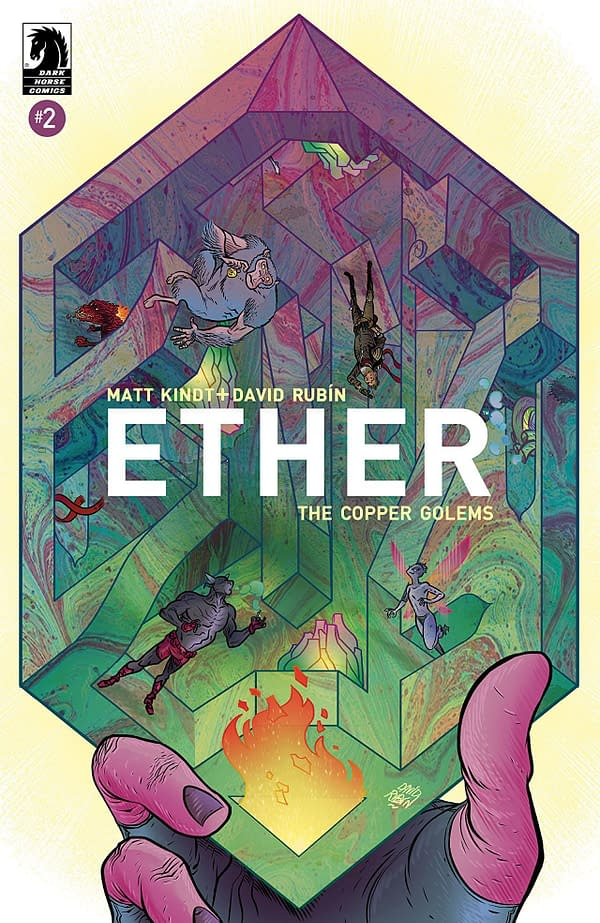 Ether Copper Golems #2 cover by David Rubin