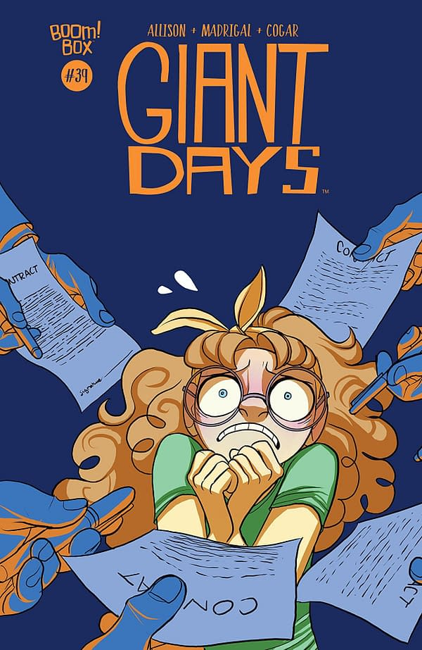 Giant Days #39 cover by Max Sarin