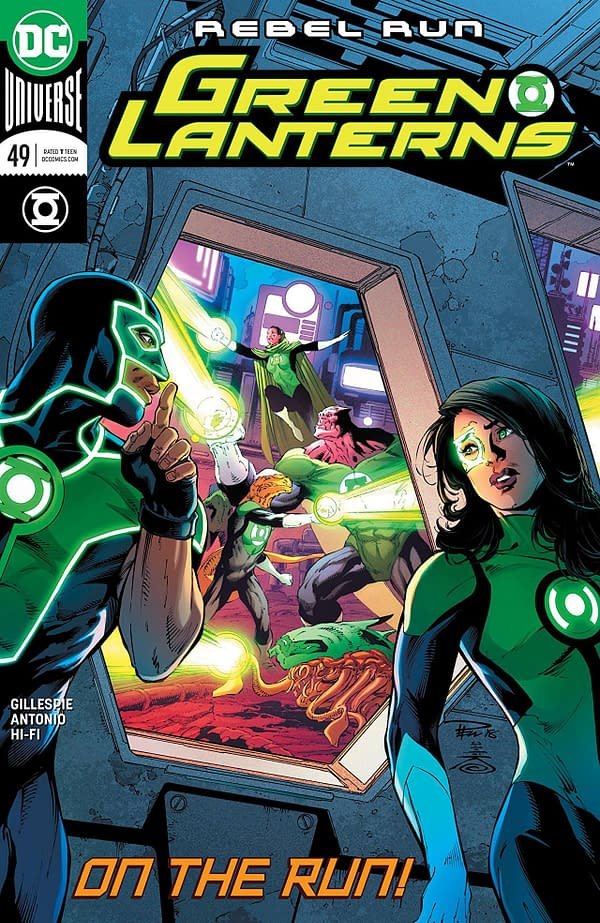 Green Lanterns #49 cover by Paul Pelletier, Danny Miki, and Adriano Lucas