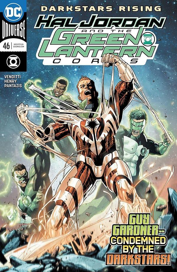 Hal Jordan and the Green Lantern Corps #46 cover by Stephen Segovia and Romulo Fajardo Jr.
