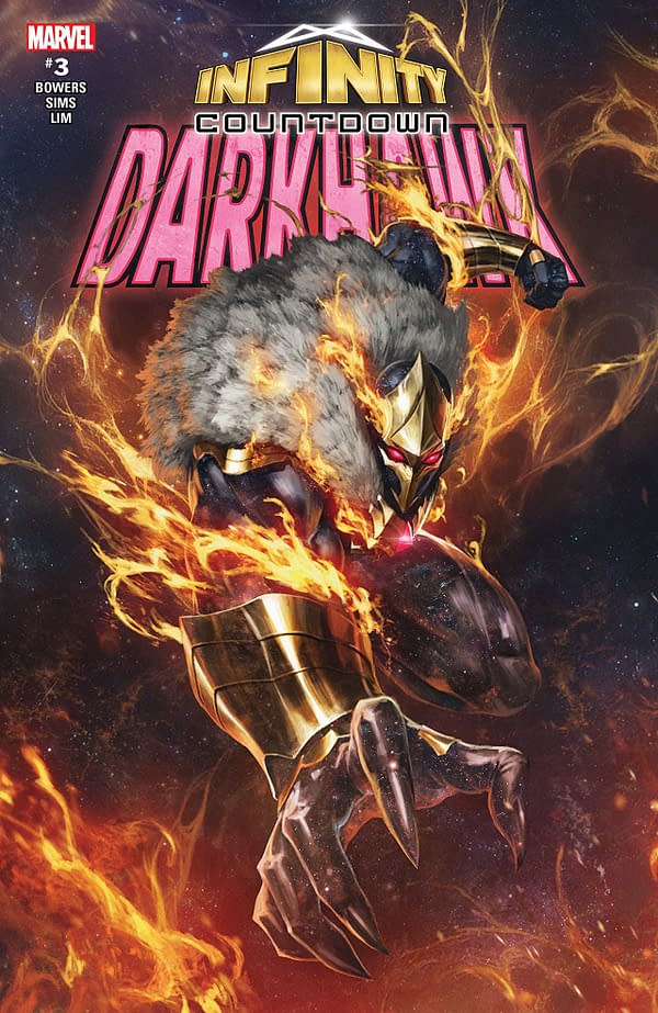 Infinity Countdown: Darkhawk #3 cover by Skan