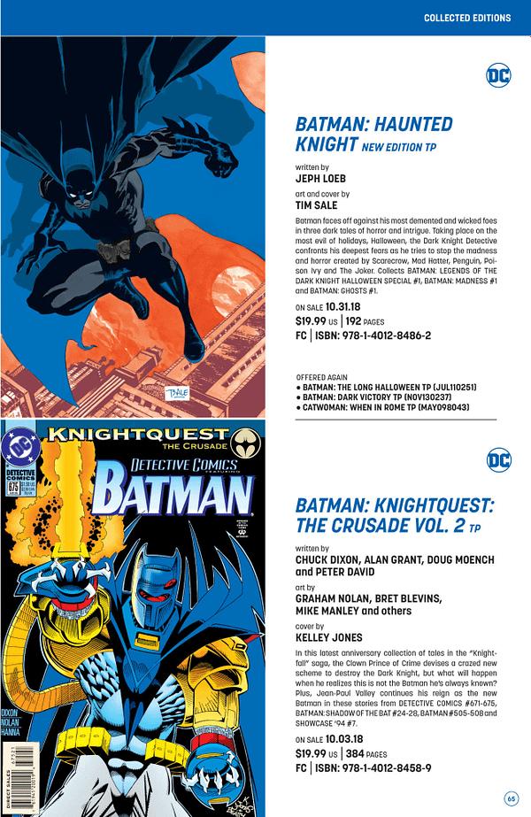 Full DC Comics Catalog for September 2018 + Solicitations