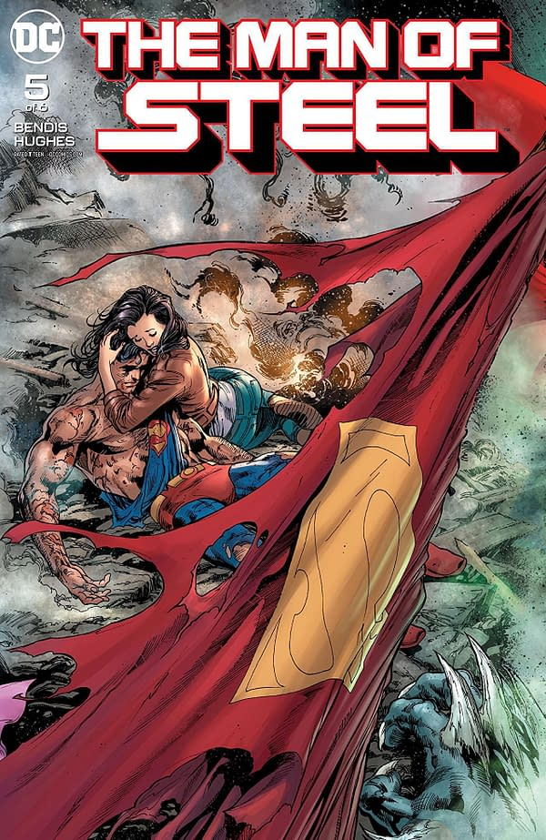 Man of Steel #5 cover by Ivan Reis, Joe Prado, and Alex Sinclair