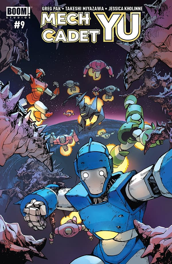 Mech Cadet Yu #9 cover by Takeshi Miyazawa and Triona Farrell