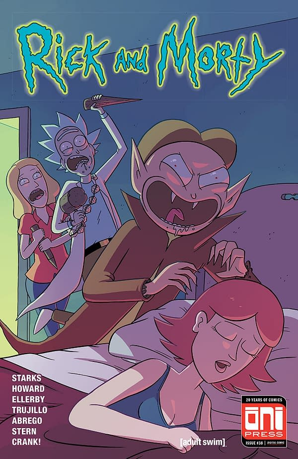 Rick and Morty #38 cover by Marc Ellerby and Sarah Stern