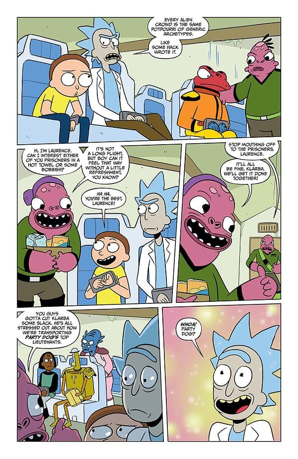 Rick and Morty #39 art by Katy Farina and Rian Sygh