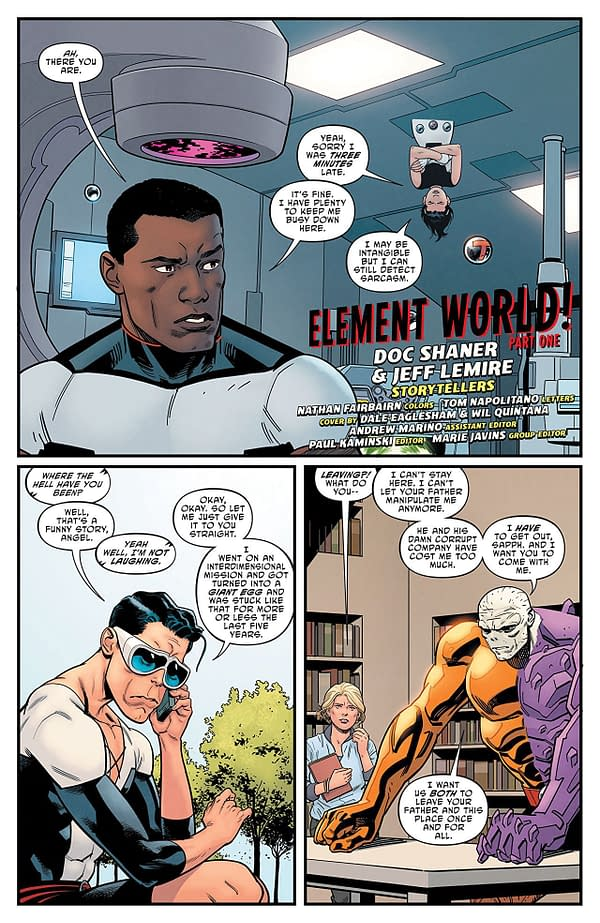 Terrifics #5 art by Evan Shaner and Nathan Fairbairn