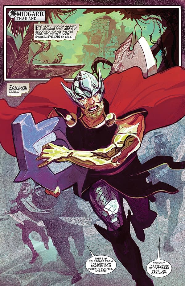 Thor #1 art by Mike del Mundo