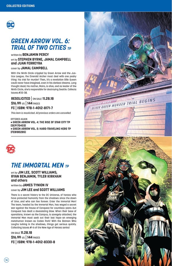 The Full DC Comics Catalogue for October 2018