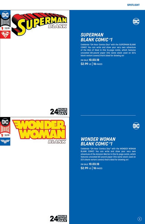 24-Hour Comic Day Saved – DC Blank Comics Now Have 24 Pages in Them