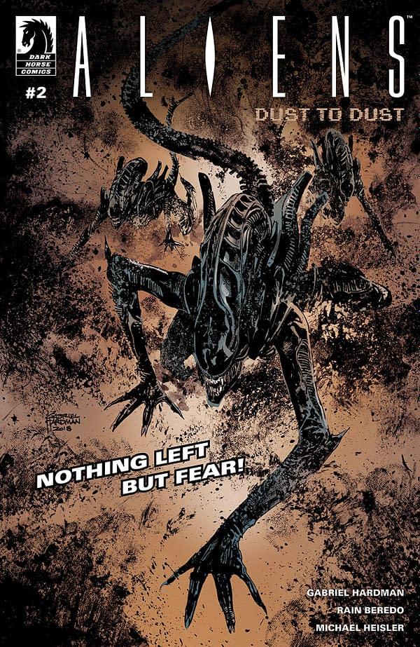 Aliens: Dust to Dust #2 cover by Gabriel Hardman