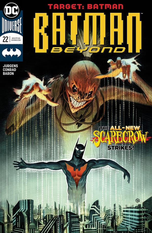 Batman Beyond #22 cover by Viktor Kalvachev