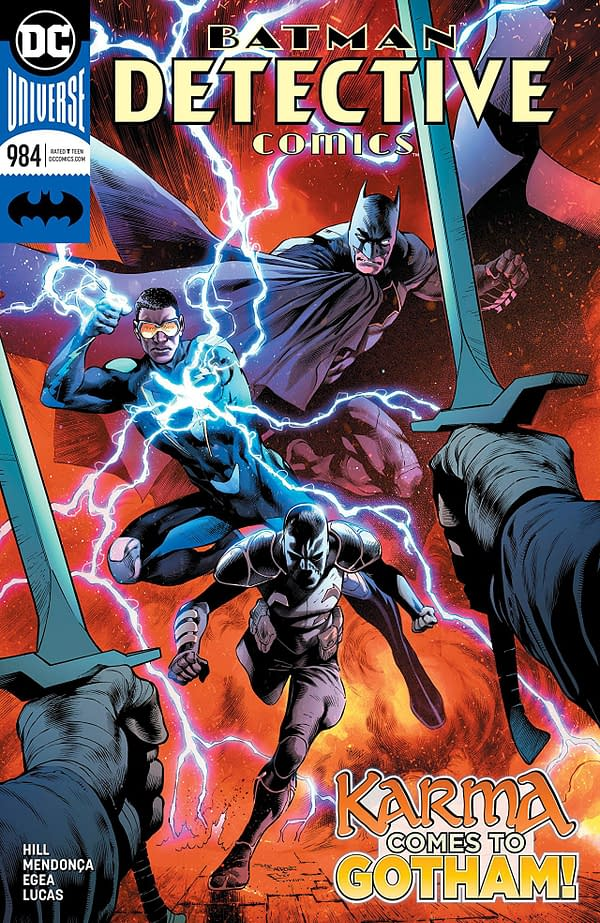 Batman: Detective Comics #984 cover by Eddy Barrows, Eber Ferrieira, and Adriano Lucas