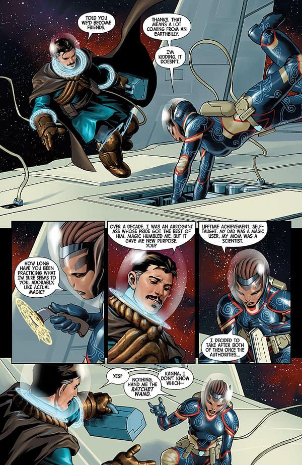 Doctor Strange #3 art by Jesus Saiz