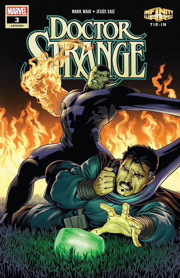 Doctor Strange #3 cover by Jesus Saiz