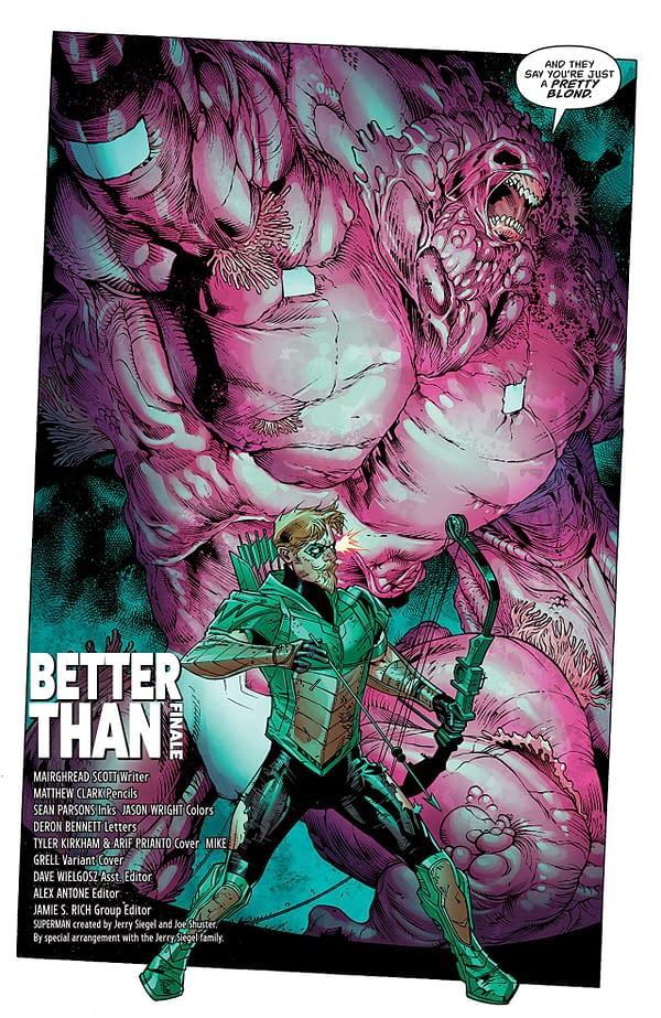 Green Arrow #42 art by Matthew Clark, Sean Parsons, and Jason Wright