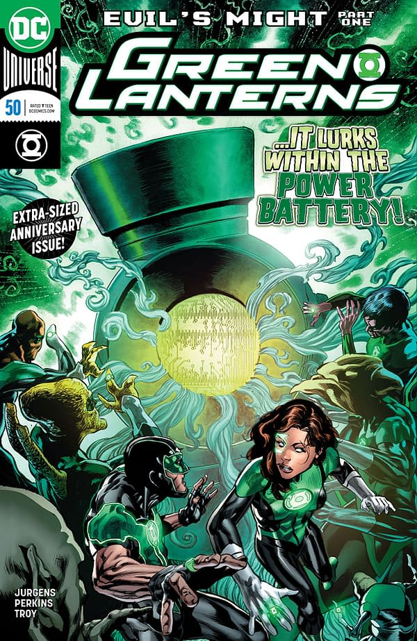 Green Lanterns #50 cover by Mike Perkins and Wil Quintana