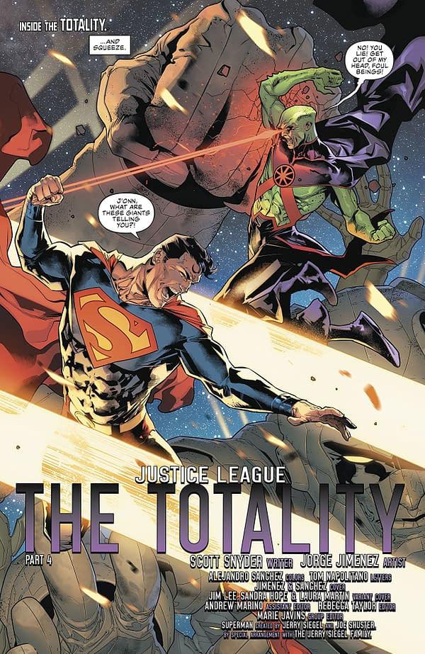 Justice League #4 art by Jorge Jimenez and Alejandro Sanchez