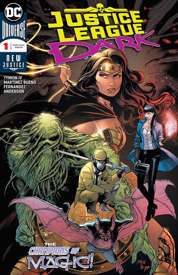 Justice League Dark #1 cover by Alvarez Martinez Bueno, Raul Fernandez, and Brad Anderson