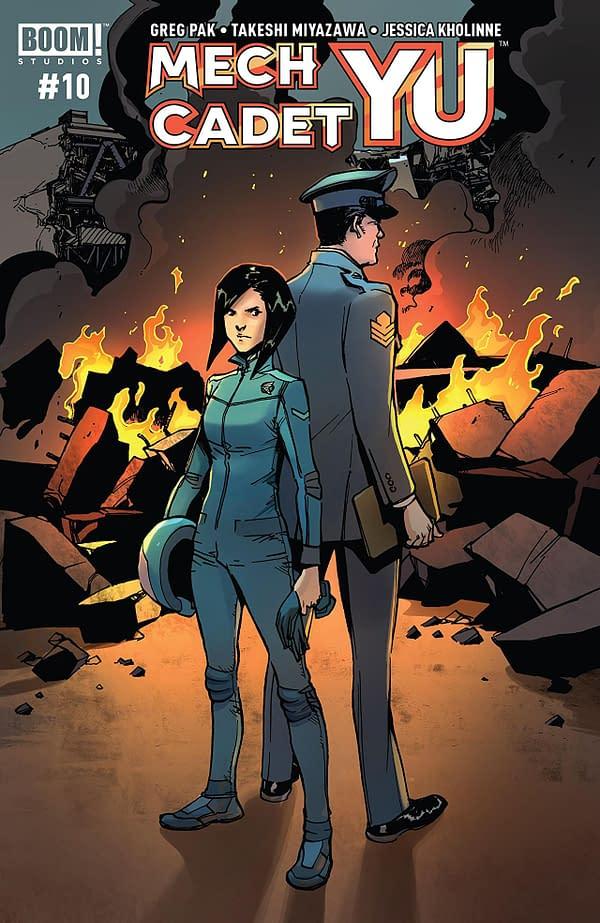 Mech Cadet Yu #10 cover by Takeshi Miyazawa