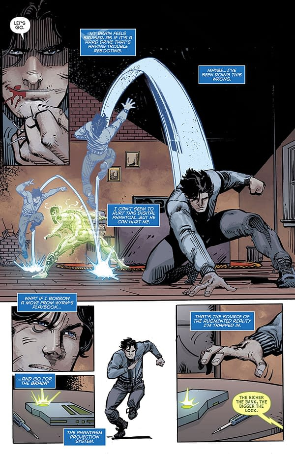 Nightwing #46 art by Chris Mooneyham, Klaus Janson, Scott Hanna, and Nick Filardi
