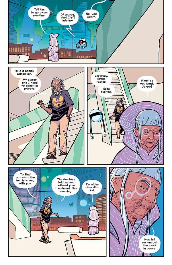 Paper Girls #22 art by Cliff Chiang, Matt Wilson, and Dee Cunniffe