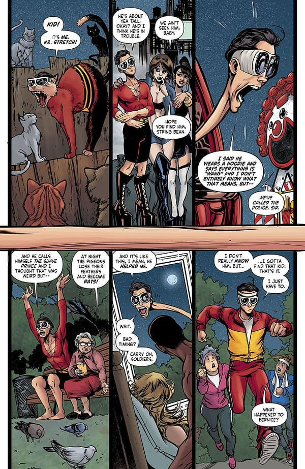 Plastic Man #2 art by Adriana Melo and Kelly Fitzpatrick