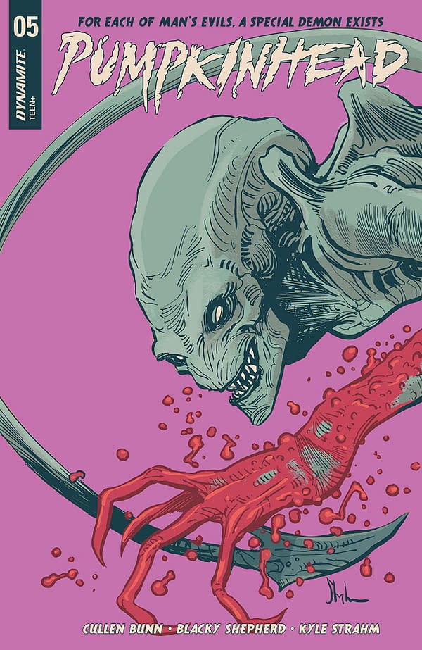 Pumpkinhead #5 cover by Kyle Strahm