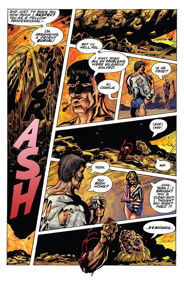 Rick Veitch's The One #6 art by Rich and Kirby Veitch