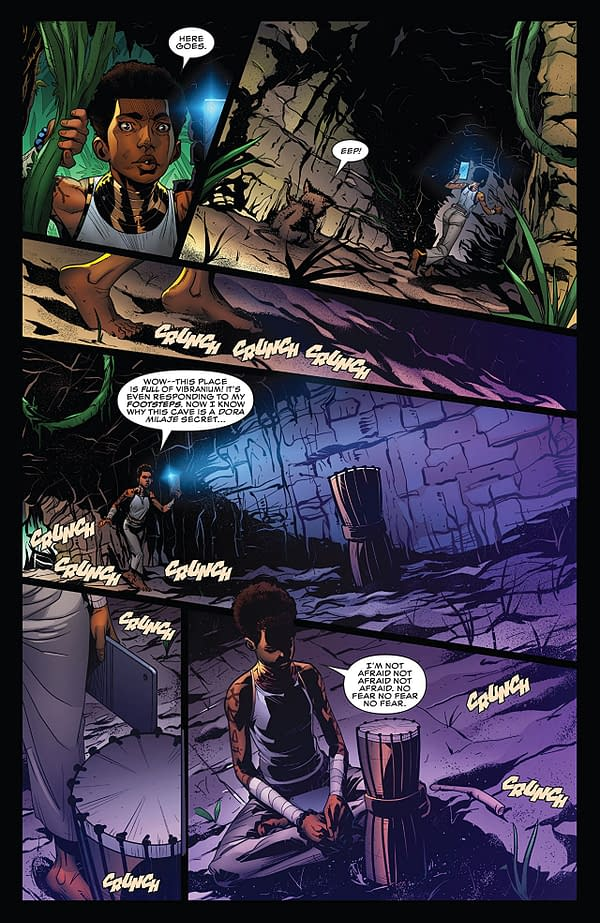 X-Men: Wakanda Forever #1 art by Ray Anthony-Height, Alberto Albuquerque, Juan Vlasco, Keith Champagne, and Erick Arciniega