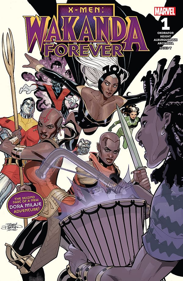 X-Men: Wakanda Forever #1 cover by Terry and Rachel Dodson