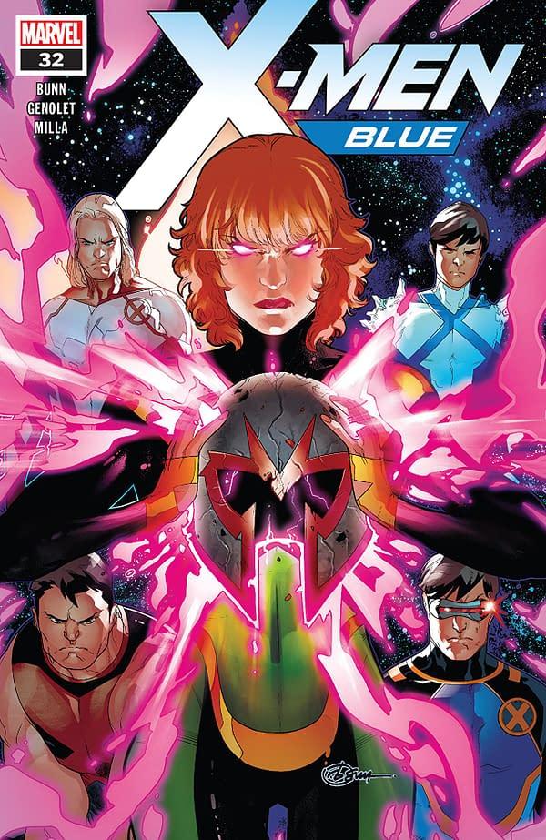 X-Men: Blue #32 cover by R.B. Silva and Rain Beredo