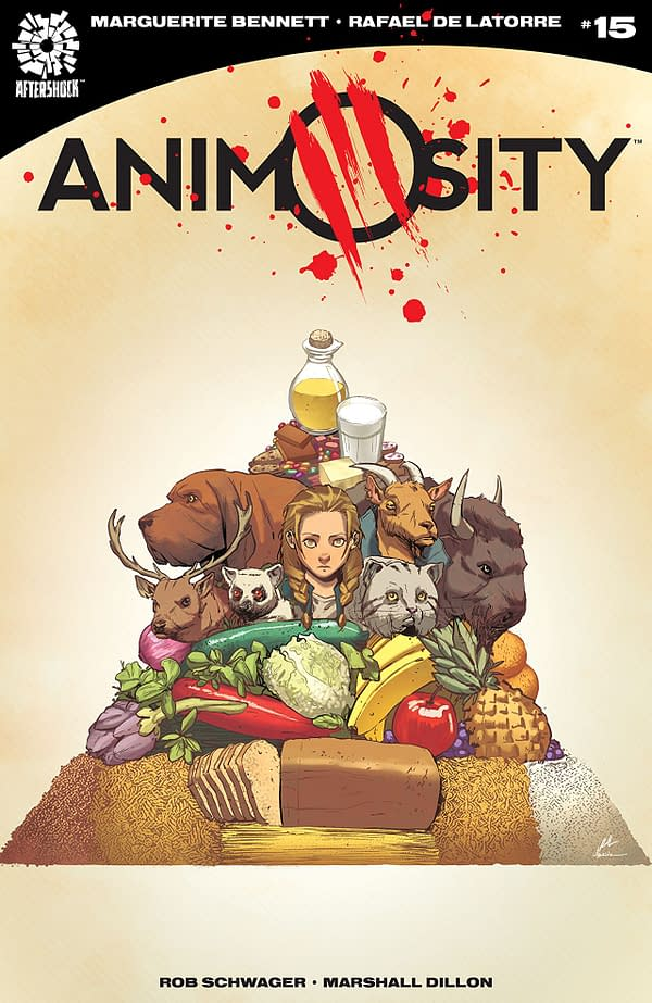 Animosity #15 cover by Rafael de la Torre and Marcelo Maiolo